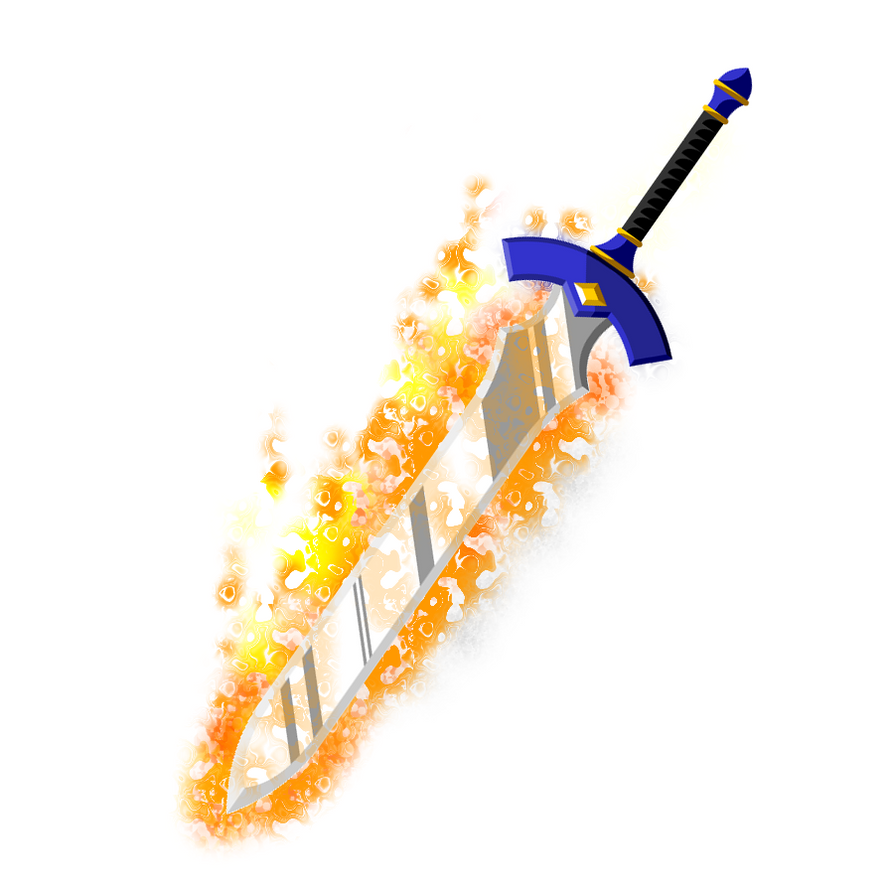 Real Flaming Sword Flaming Master Sword by