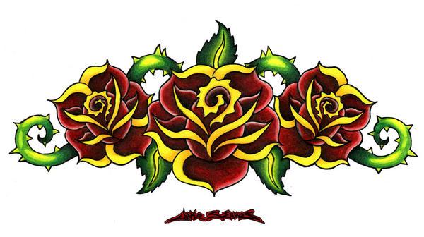 3 Roses by MuddyGreen