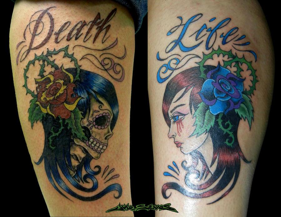 life death tattoo by muddygreen on deviantart. Black Bedroom Furniture Sets. Home Design Ideas