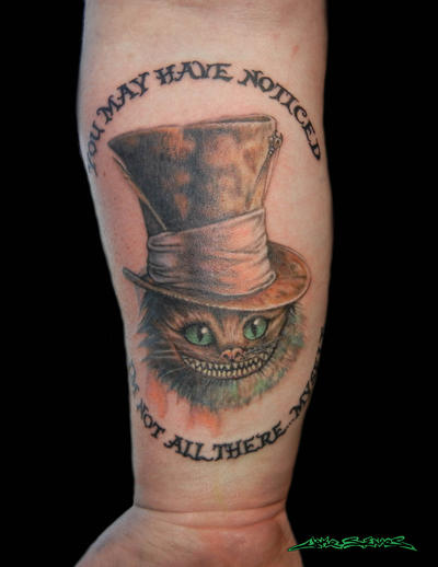 cheshire cat tattoo by muddygreen on deviantart. Black Bedroom Furniture Sets. Home Design Ideas
