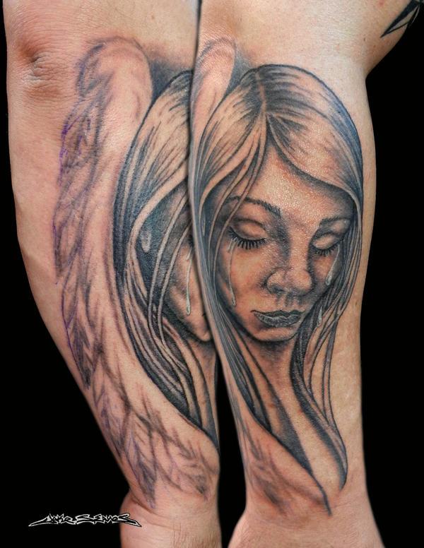 Weeping Angel Tattoo by MuddyGreen