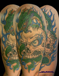 4362af172 MuddyGreen 5 2 Flaming Skull Dragon by MuddyGreen