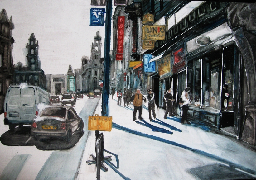 Streetscape in blinding light - Amazing Street Paintings