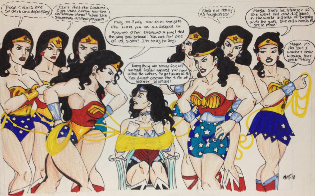 Wonder Womans seeking answers. by Medusa1893