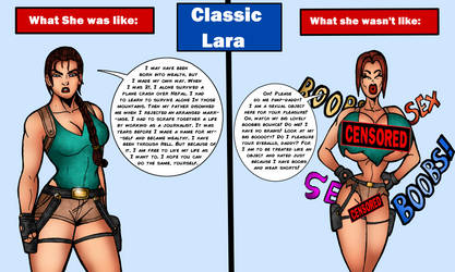 Classic Lara: Truth Vs Fiction by Medusa1893