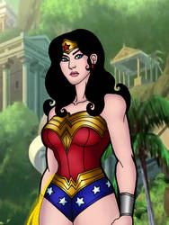 Wonder Woman Bloodlines Classic style by Medusa1893