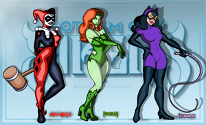 Animated Gotham City Sirens lineup