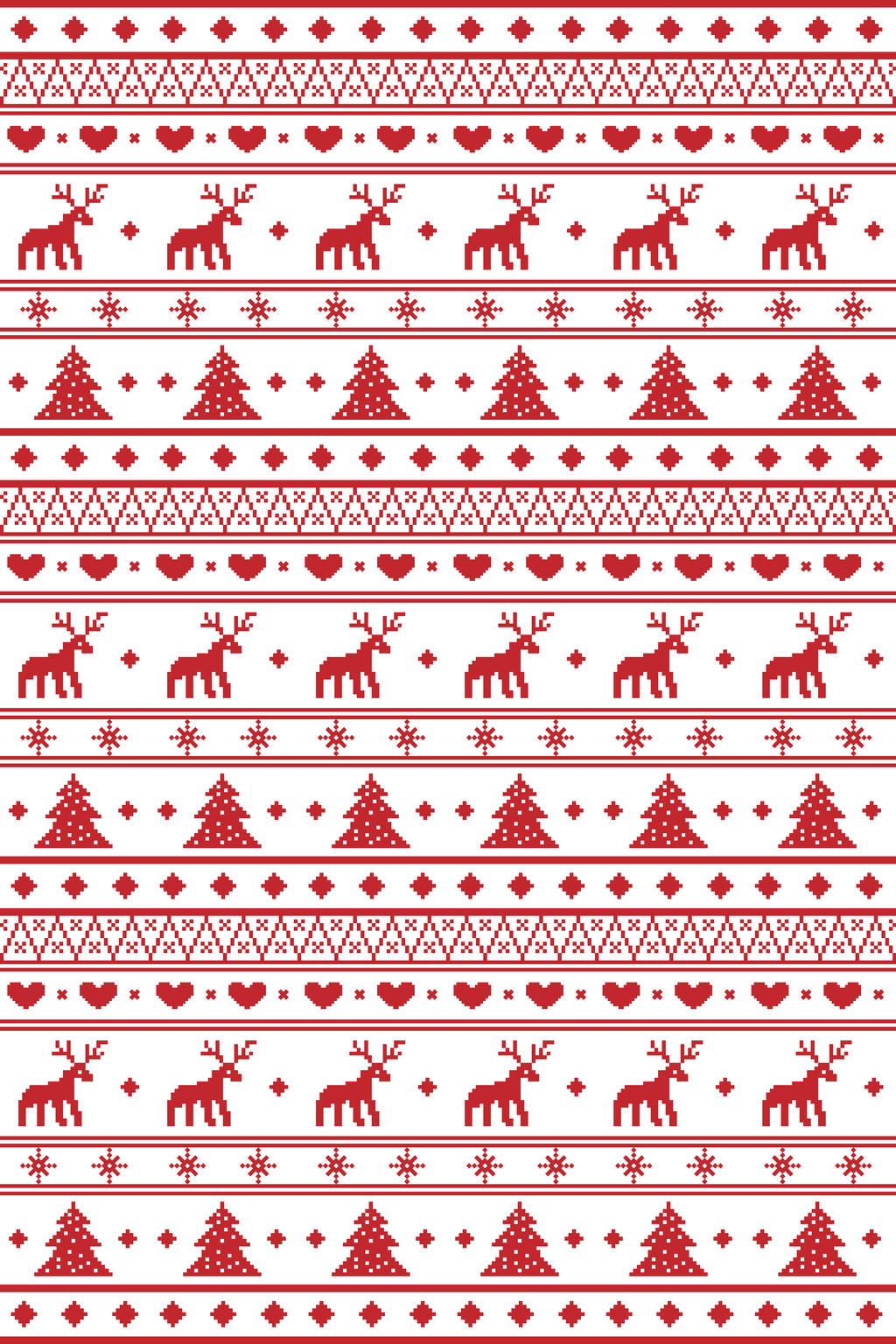 Christmas Pixel Pattern by jamieemm92 on DeviantArt