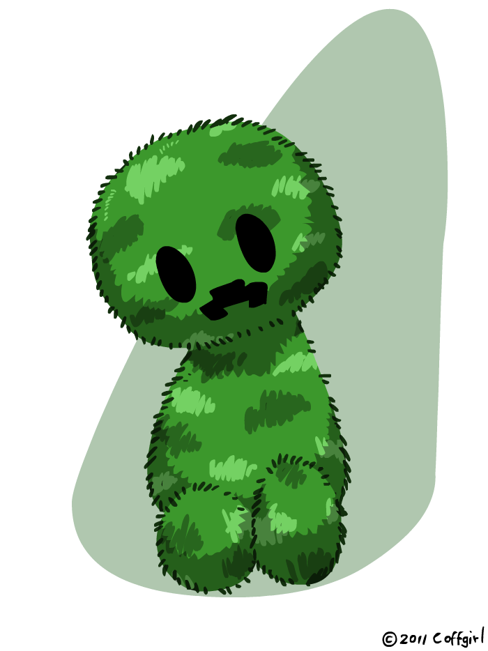 Fluffy Creeper By Coffgirl D45s1q3