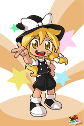 Marisa with shorts by Coffgirl