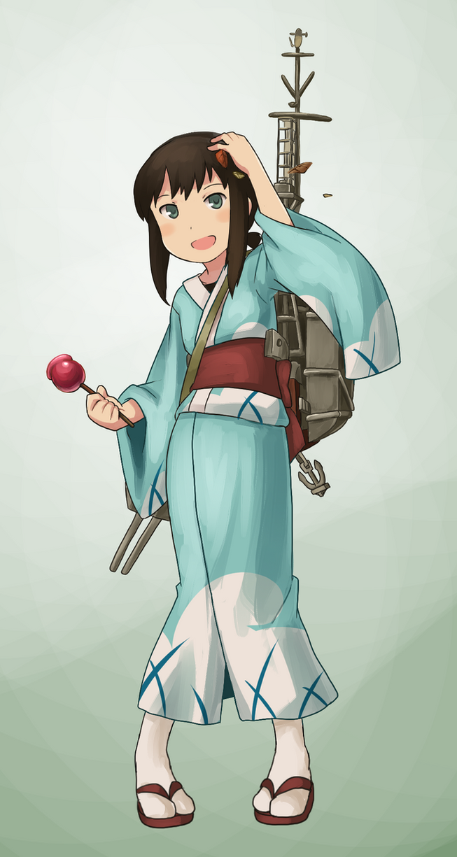 Fubuki's special CG for Fall? by Coffgirl