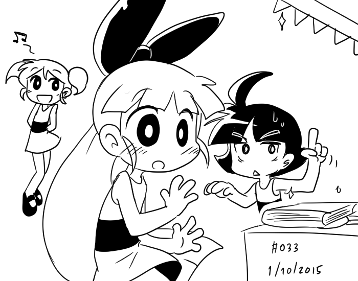 Current PPG sketch by Coffgirl