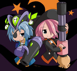Commission : Nath and Alte Halloween
