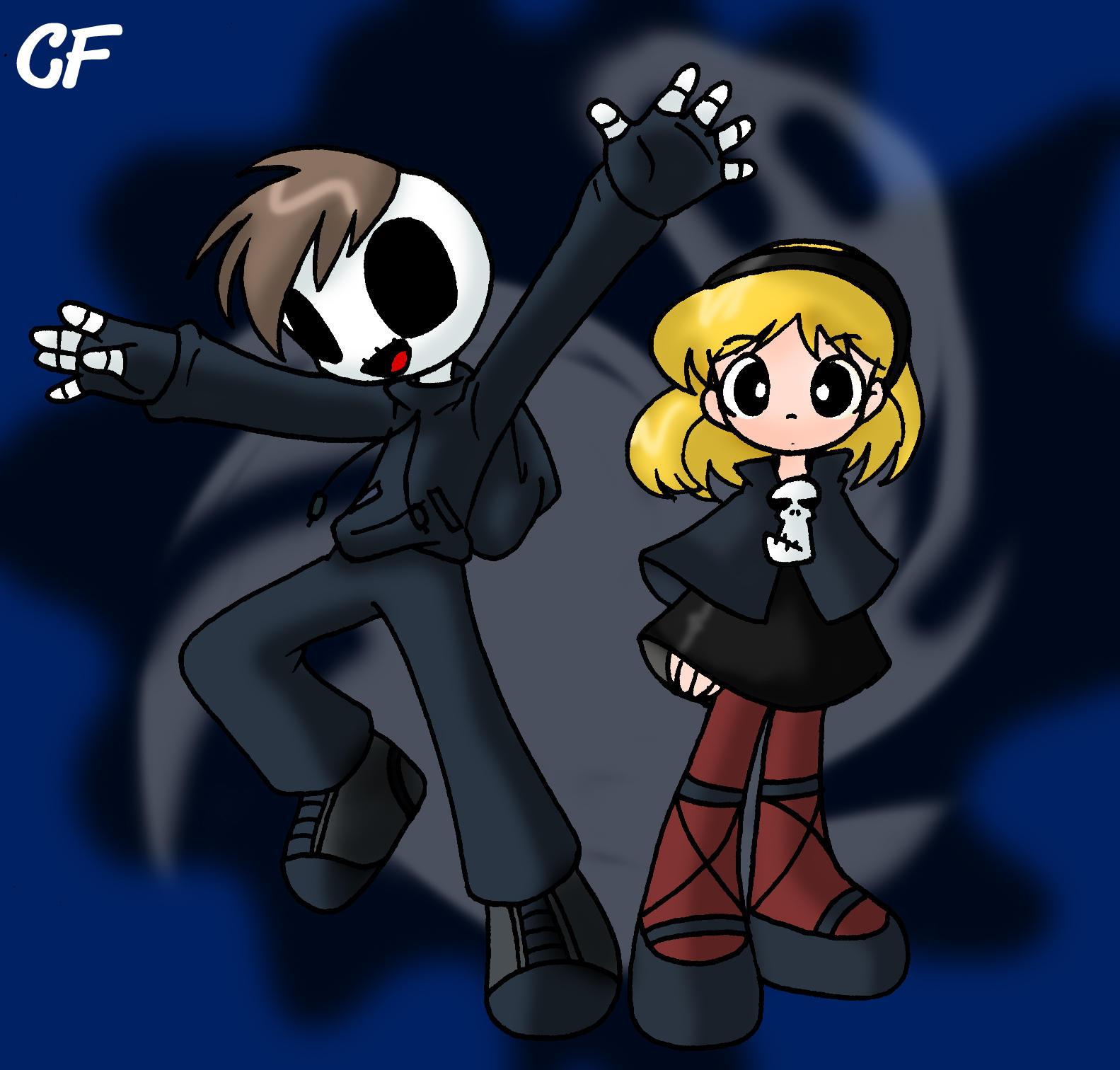 Grim Jr and Minnie by Coffgirl