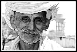 Portrait of a Rajasthan Farmer by Indiangal