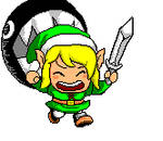 'Link Plays With Bow-Wow.'