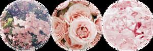 Pastel Pink Flowers Stamp F2u