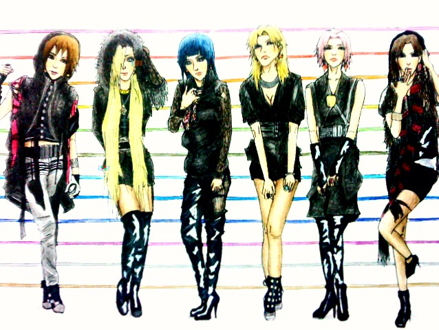 Naruto girls as T-ara by Amira-Amilia