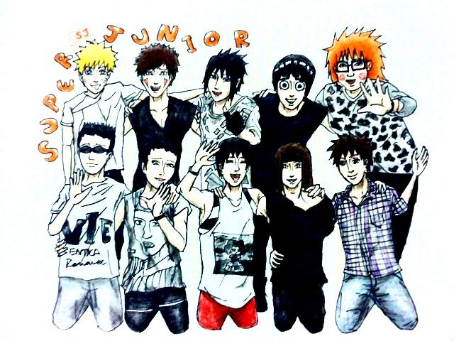 Naruto boys as Super Junior by Amira-Amilia on DeviantArt