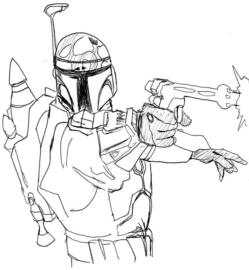 Lego star wars jango fett coloring pages coloring pages for Jango fett coloring pages