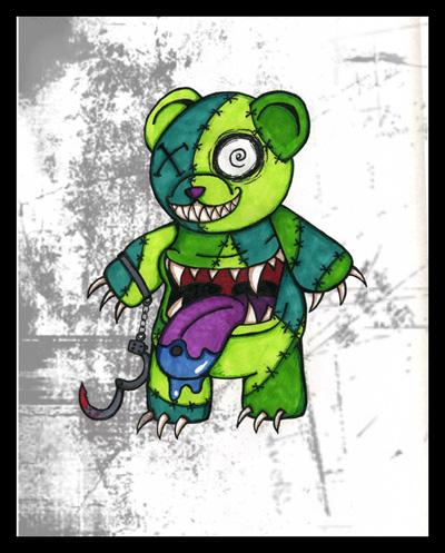Zombie Teddy Bear Drawings
