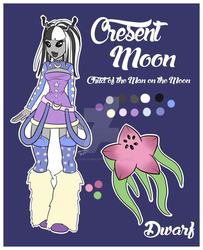 Cresent Moon Character Sheet by FlavorlessMuffin