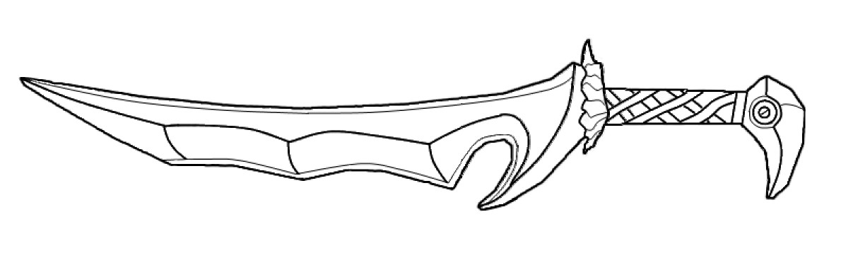 Line Drawing Knife : Orcish dagger lineart by andrewbig on deviantart