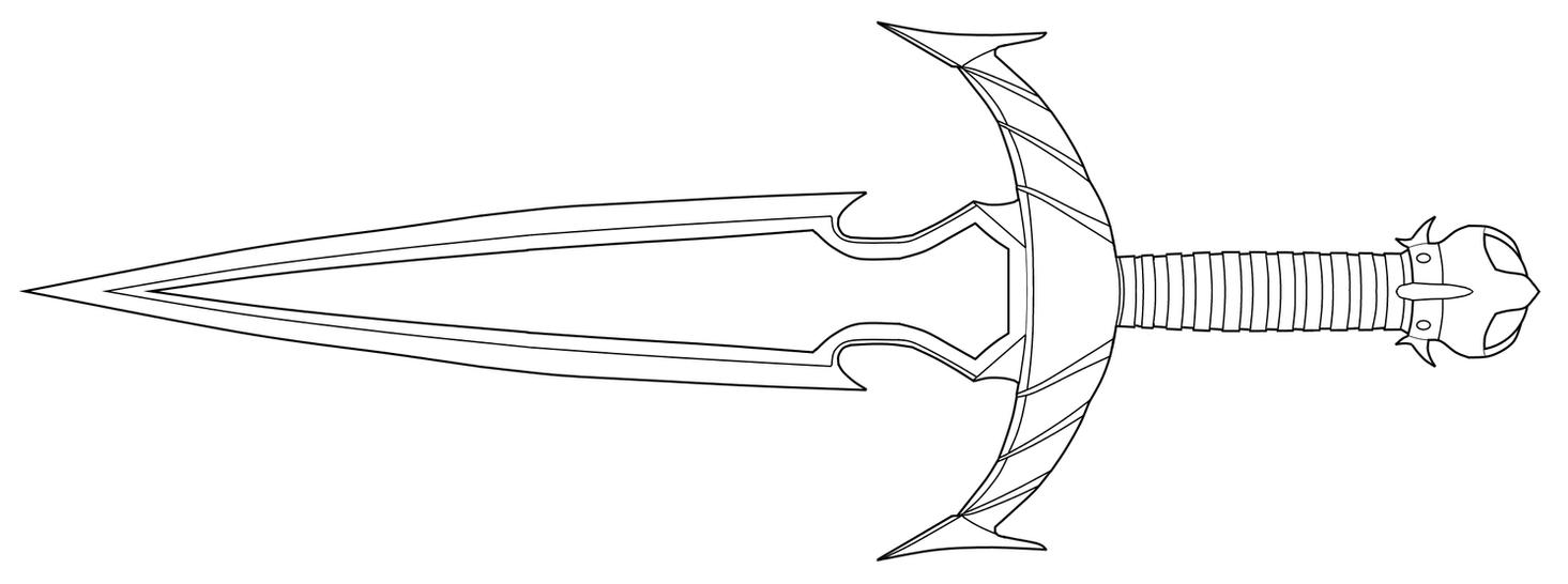 Mehrunes' Razor lineart by andrewbig