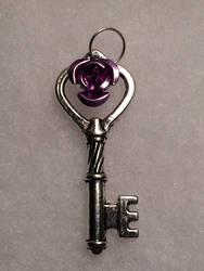 Light Purple Rose Key by AzenaKira