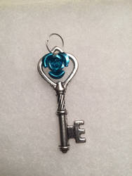 Light Blue Rose Key by AzenaKira