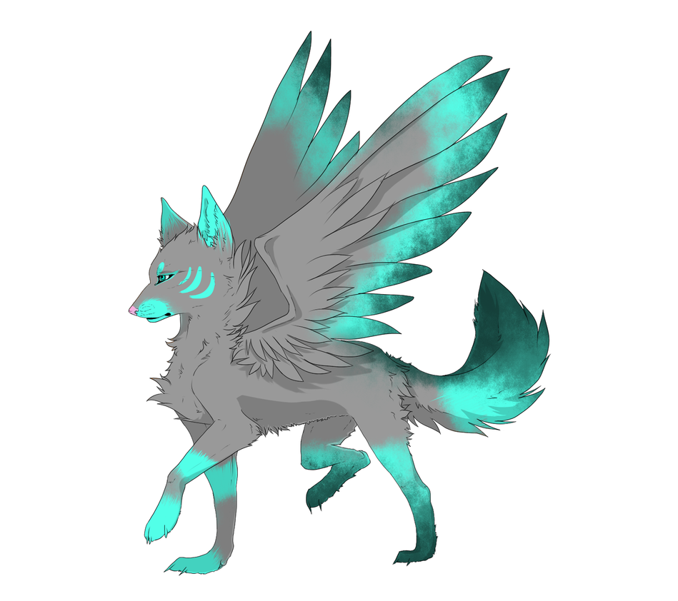 Green Winged Wolf