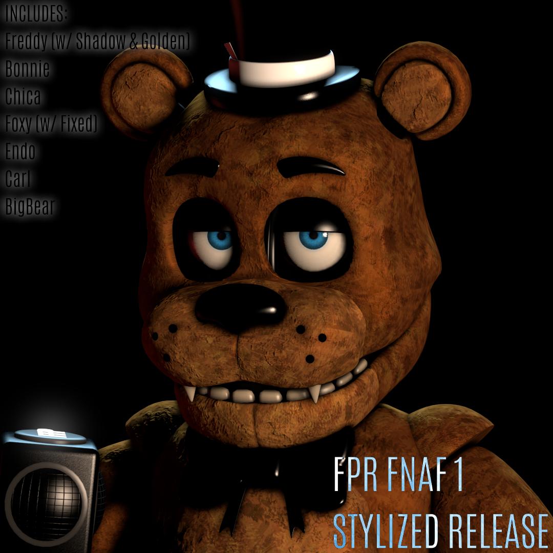 [FPR/FNaF/SFM/C4D/BLENDER] FNaF 1 Stylized Pack