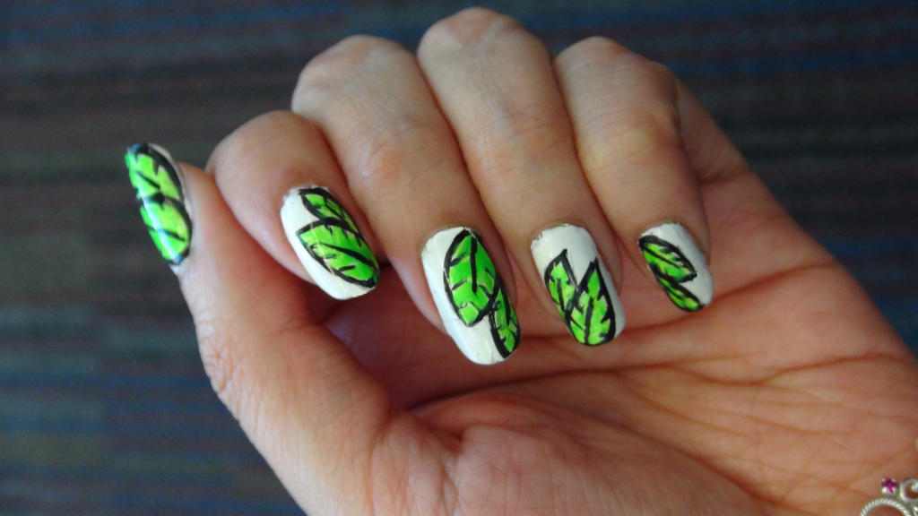 Green Forest Nails By Brujawhite On Deviantart