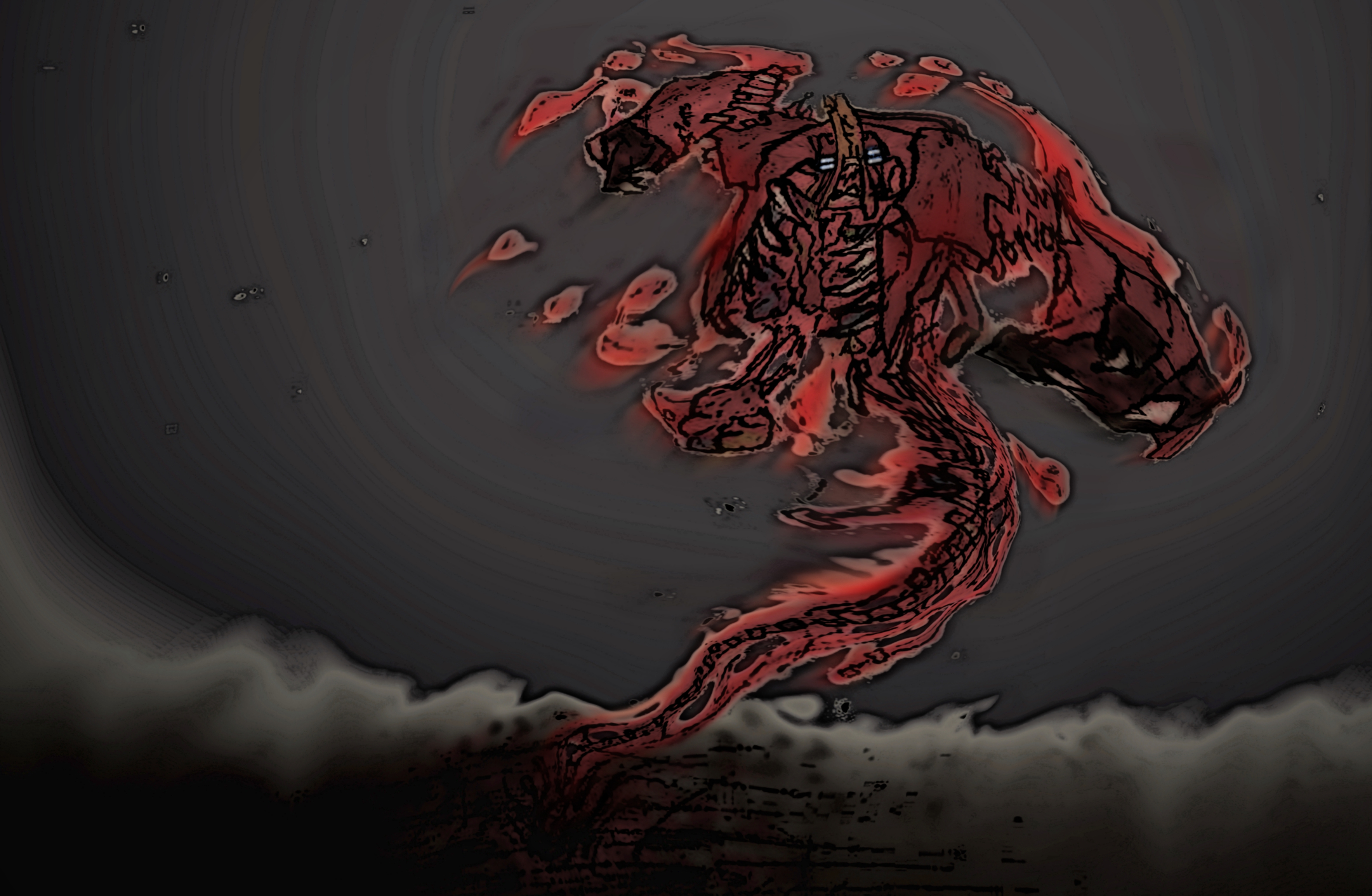 Garry surfs out of hell in a wake of organs by DawnofNSSD
