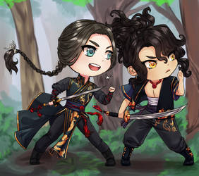 [Deshi and Shiro] Ready for Battle