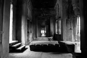 Angkor Wat Hallway by Niv24