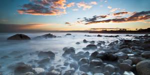 Misty Stones on the Coast