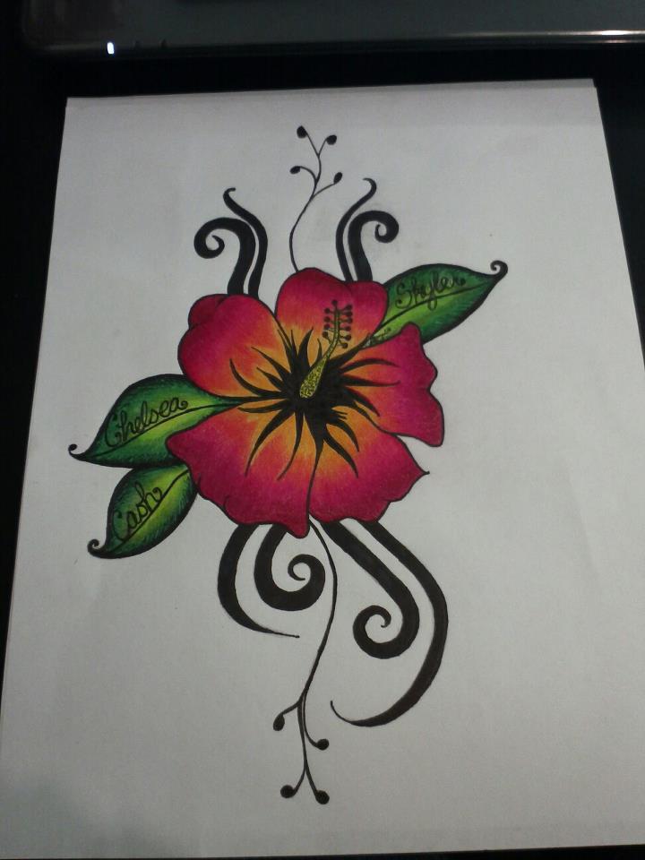 Hibiscus tribal tattoo by ashiekinns on deviantart for Hibiscus flower tattoo sketches