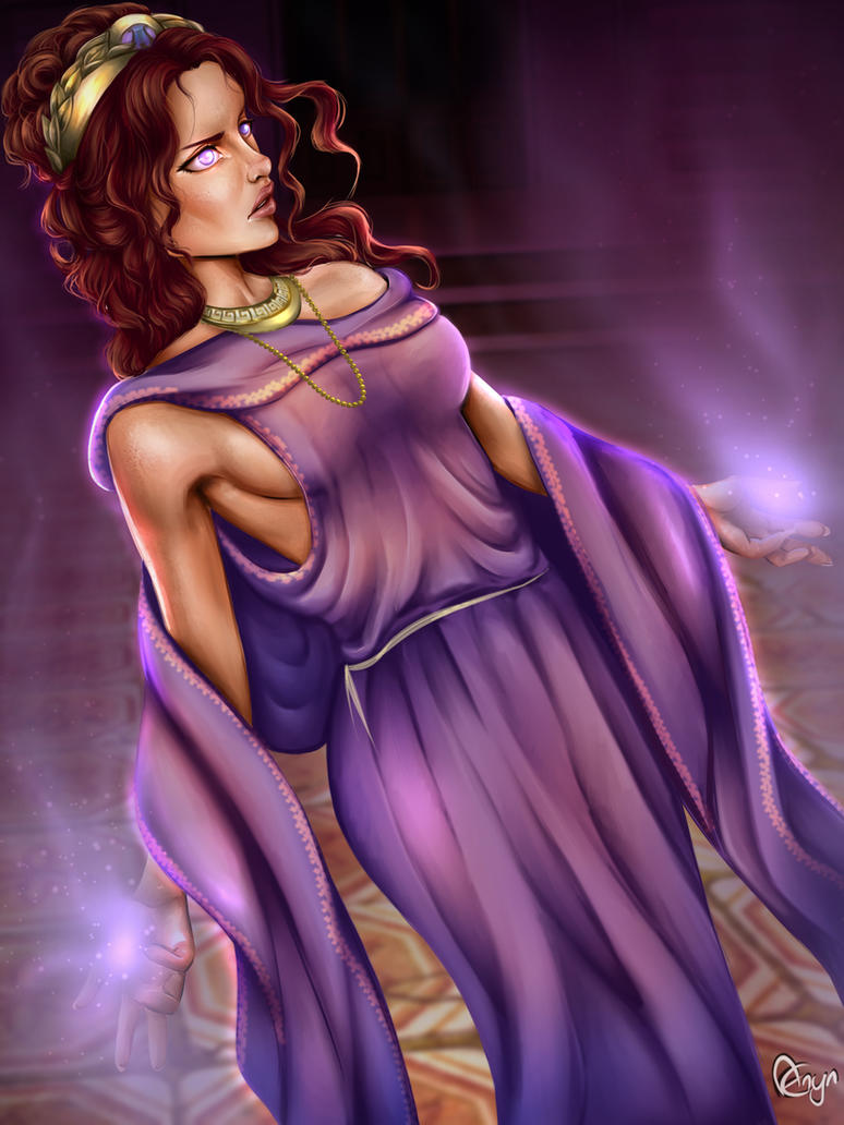 Greek Oracle / Pythia by Mythicalpalette