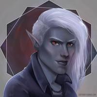 Vreth -Drow elf Bard by Mythicalpalette