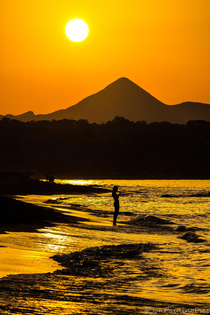 Cretean Sundown by Mincingyoda