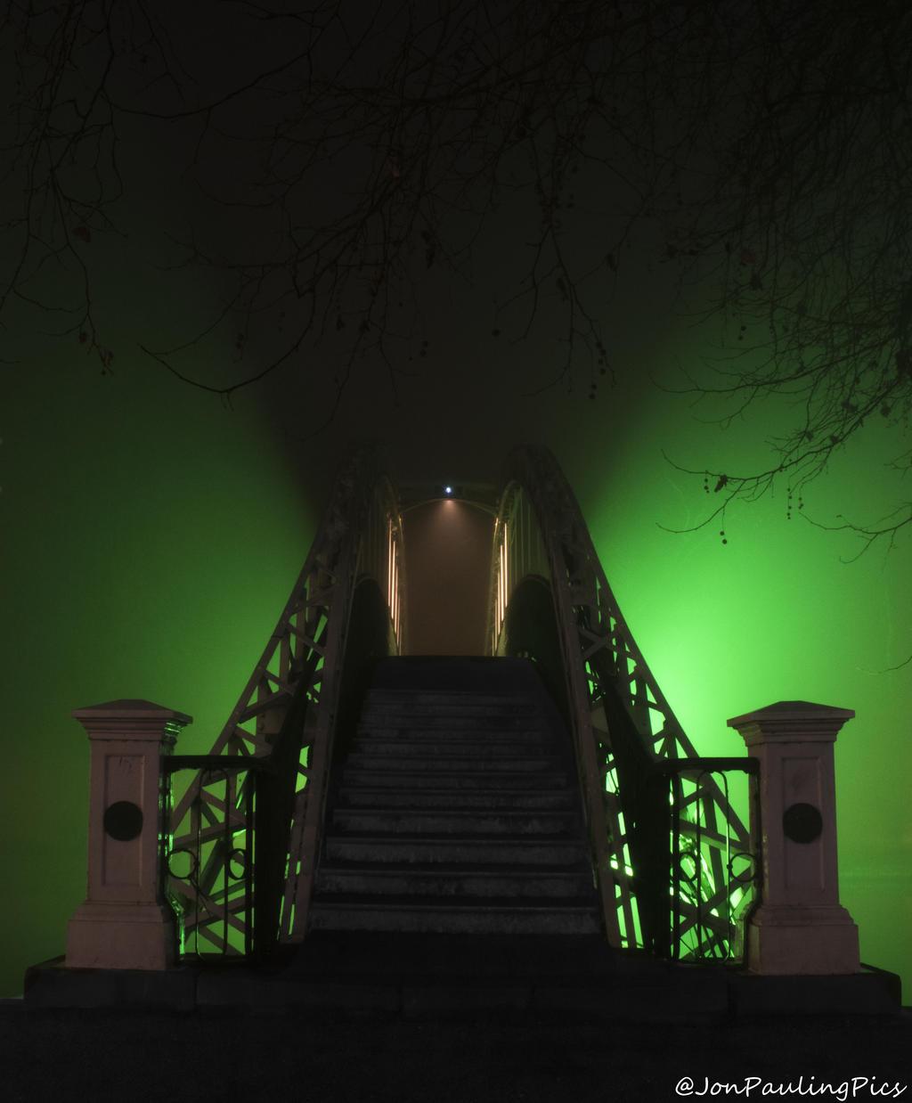 Fogbound Footbridge by Mincingyoda