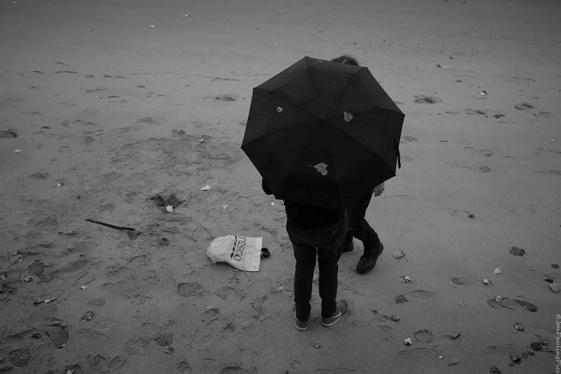Beach Brollies! by Mincingyoda