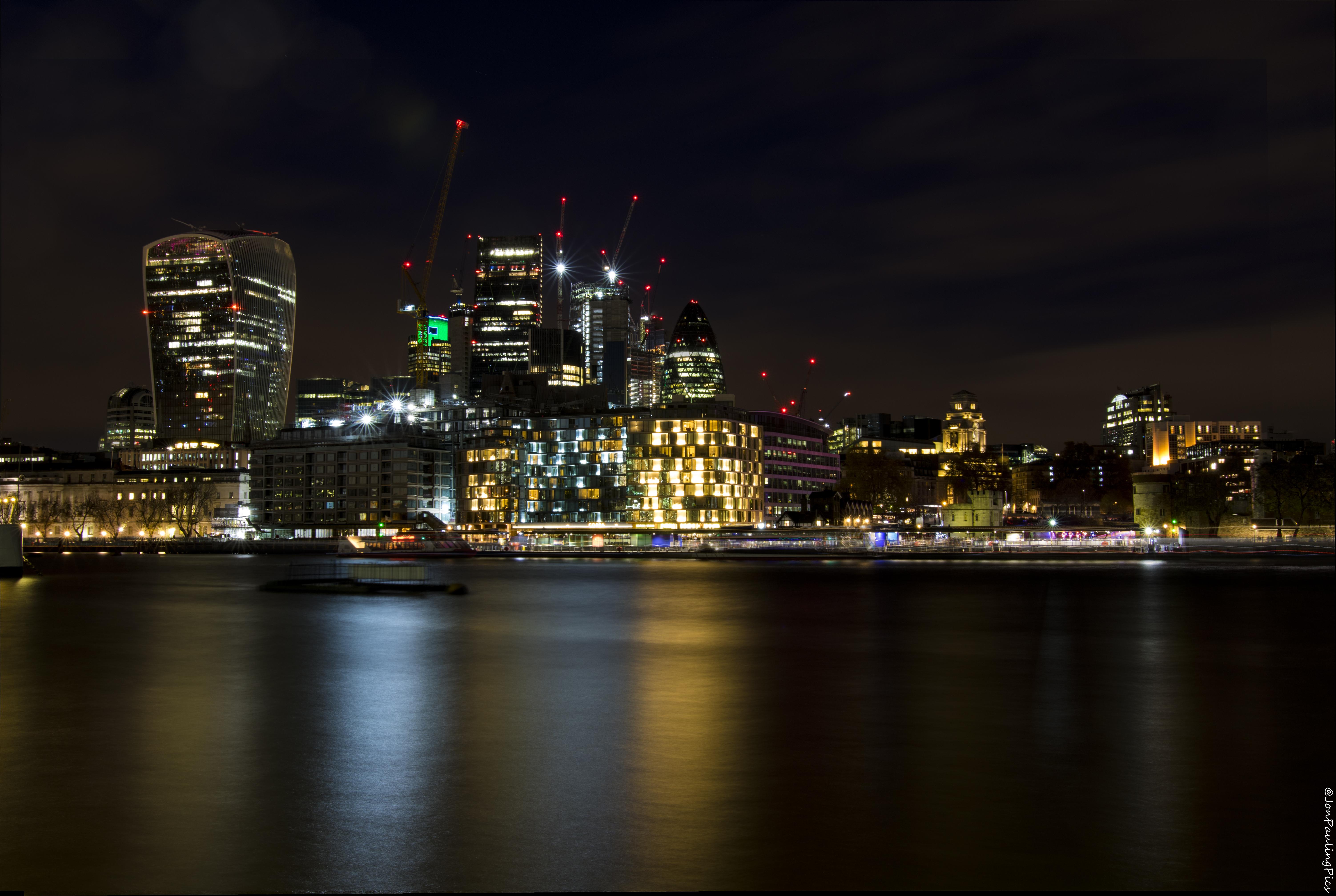 London Long Exposure Skyline by Mincingyoda