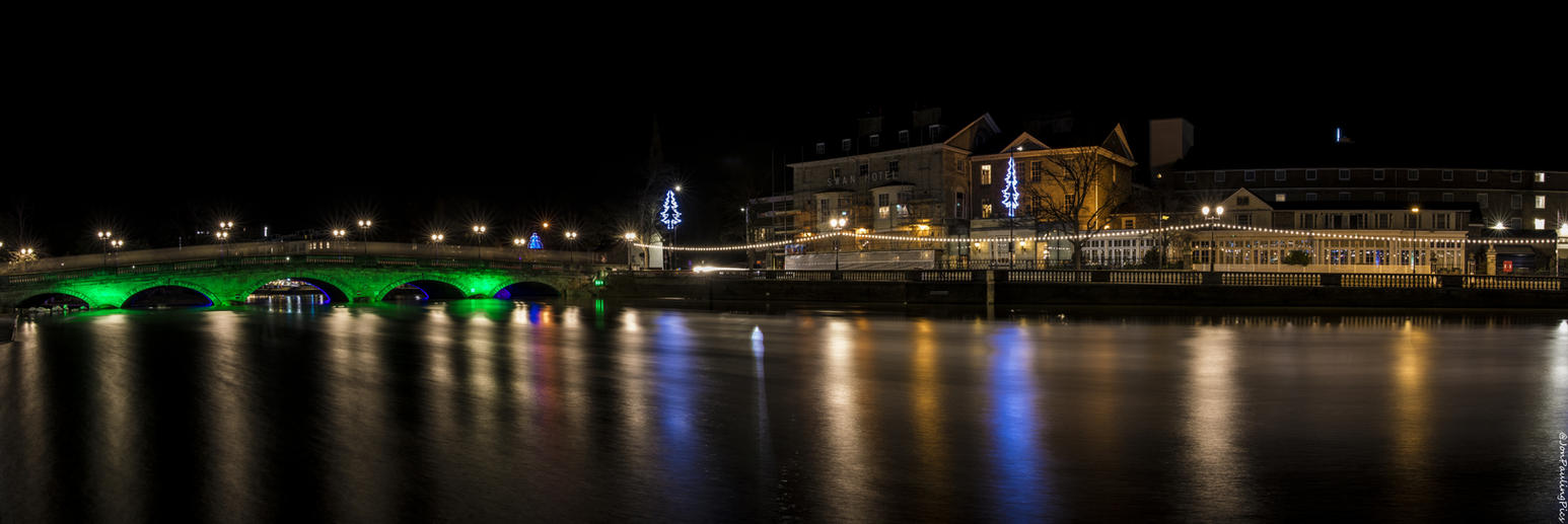 Festive Bedford by Night by Mincingyoda