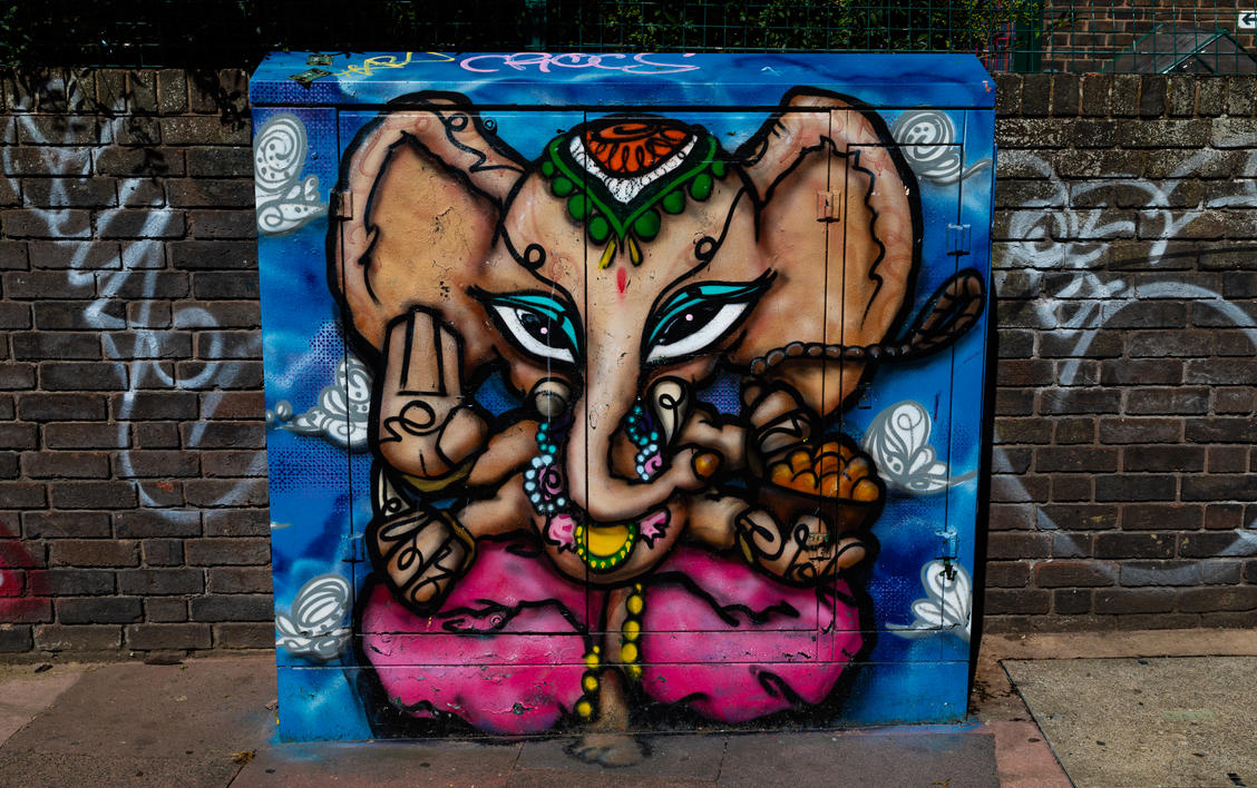 Ganesh Graffiti by Mincingyoda