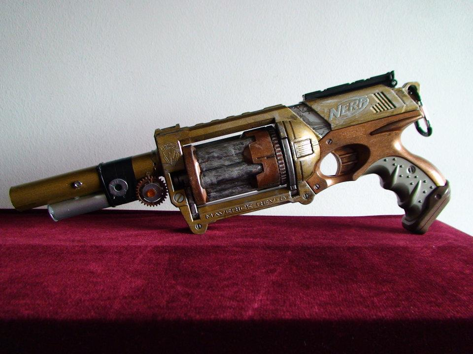 Steampunk Nerf Maverick by Gavinlimkj