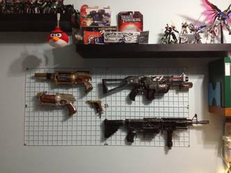 Wall of blasters by Gavinlimkj