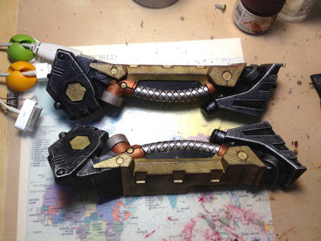 Steampunk Longstrike WIP #2 (Bipod sections)