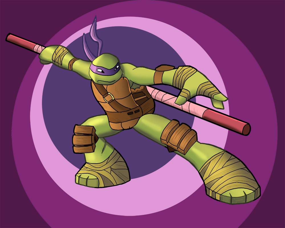 Tmnt 2012 Donnie Fan Art Color Version By Toonsanimemanga On